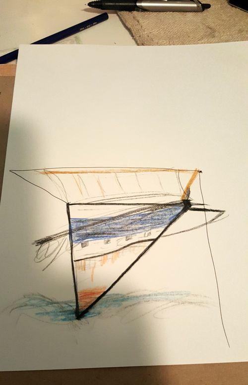Poppy hill ship drawing