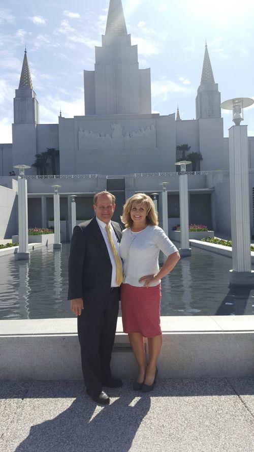 Dan and i oakland temple