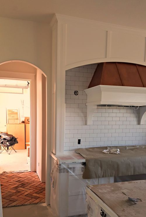 Copper hood and tile