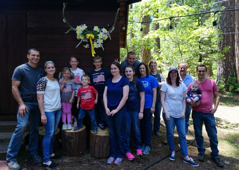 Cabin family work day group