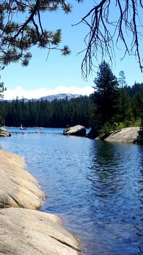 Shannon cabin alpine lake
