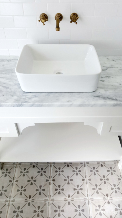 Poppy hill guest bath sink and vanity