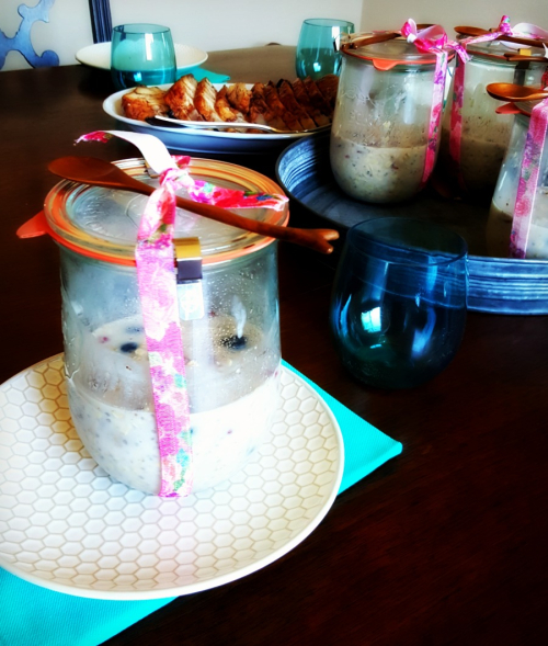 Relief society overnight oatmeal table