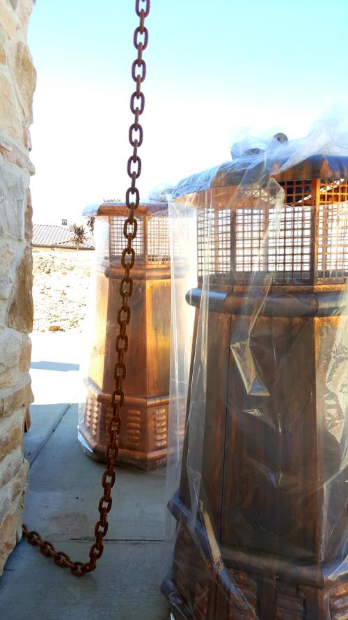 Poppy hill copper chimney pots