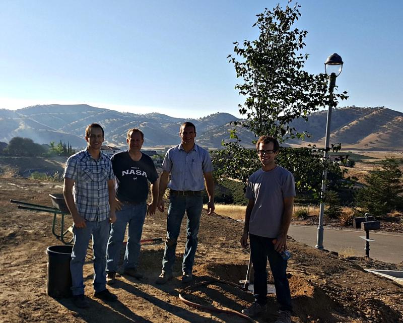 Poppy hill guys planting tree