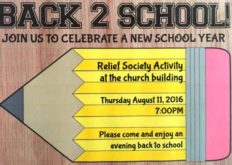 Back to school invite