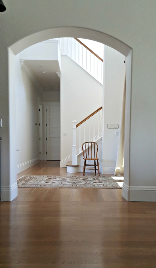 Poppy hill staircase and wooden chair