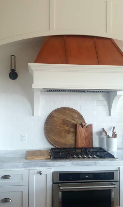 Poppy hill  painted copper hood