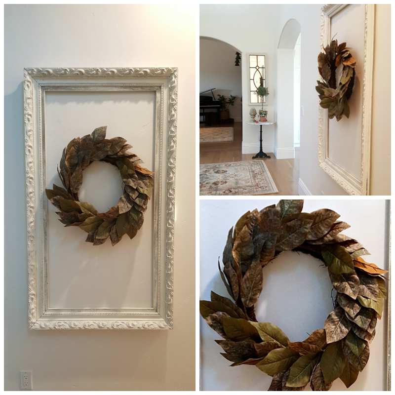 Poppy hill wreath Collage