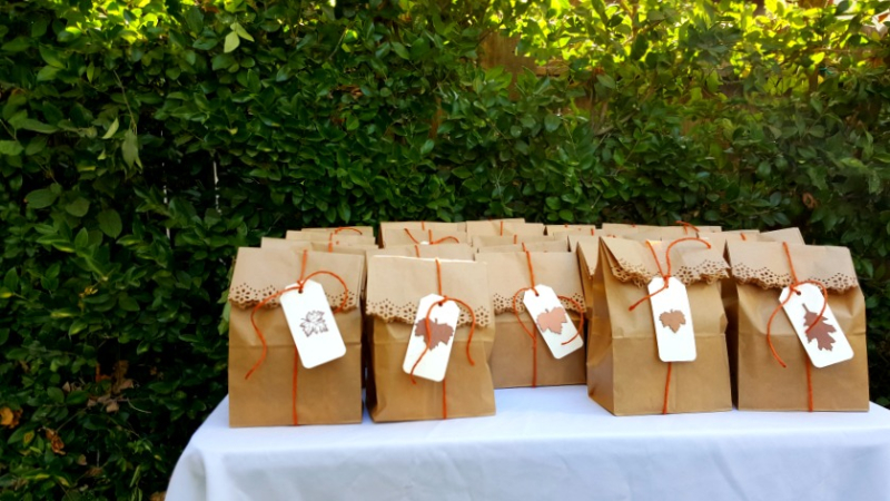 Relief society conference bags outside sandi