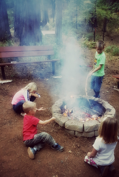 Cabin kids fire-pit 0ct 2016