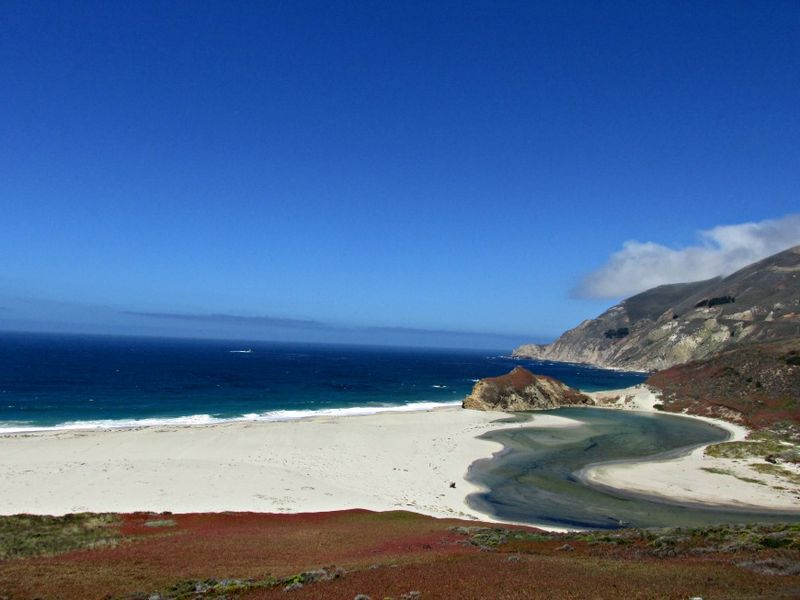 Big Sur white sand...marble color stream