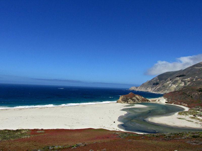Big Sur white sand...marble color stream