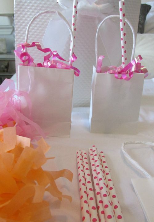 Pop up baby shower tiny bags