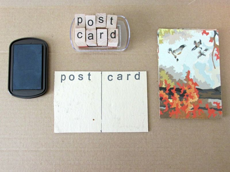 DIY paint by numbers post card