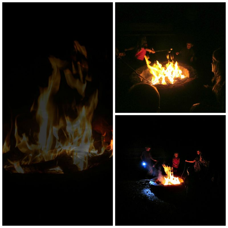 Camp fire Collage