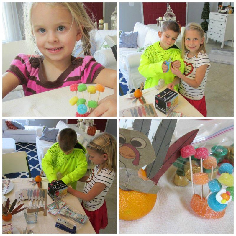 Thanksgiving craft kids Collage