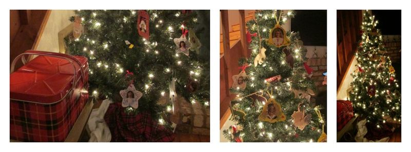 Cabin christmas tree 1 Collage