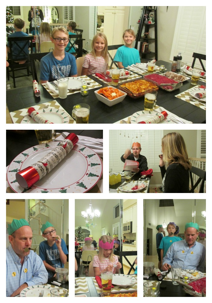 Christmas eve dinner Collage