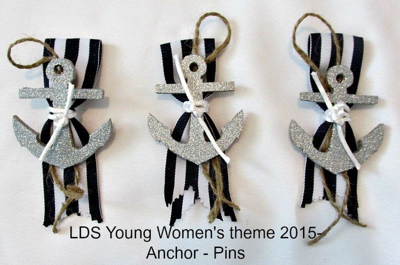 Young women's theme 2015 Anchor pins