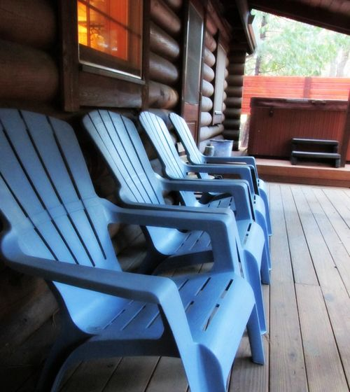 Blue chairs cabin