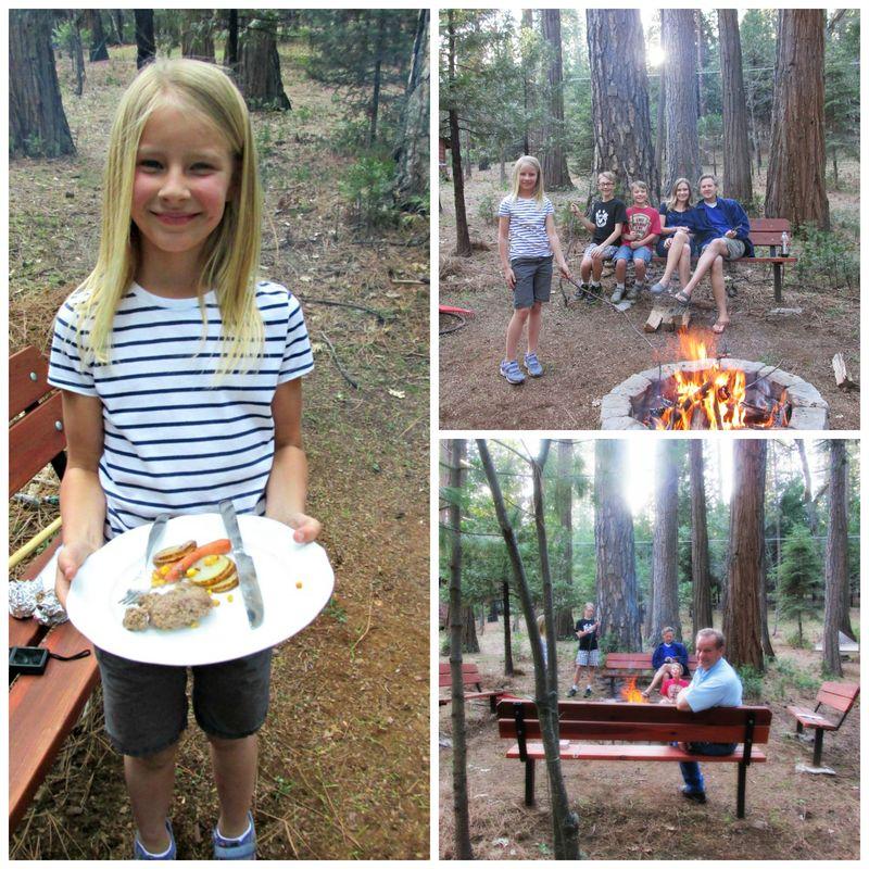Cabin under the pine dinner Collage