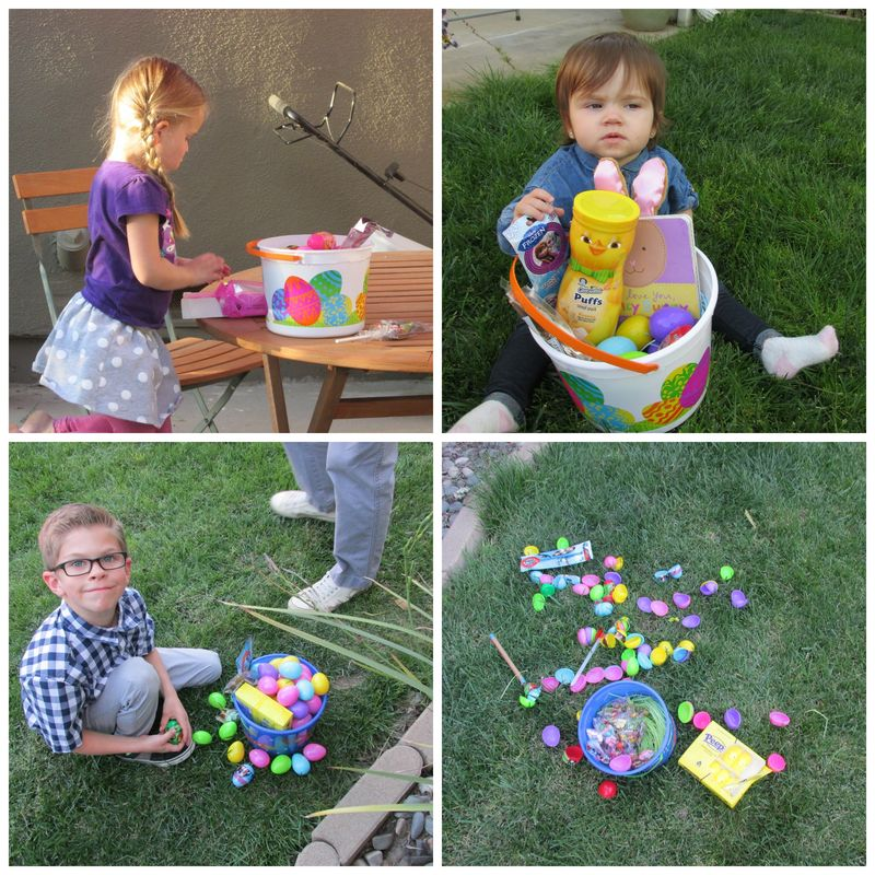 Easter baskets Collage