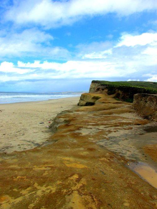 Pomponio stake beach rocks