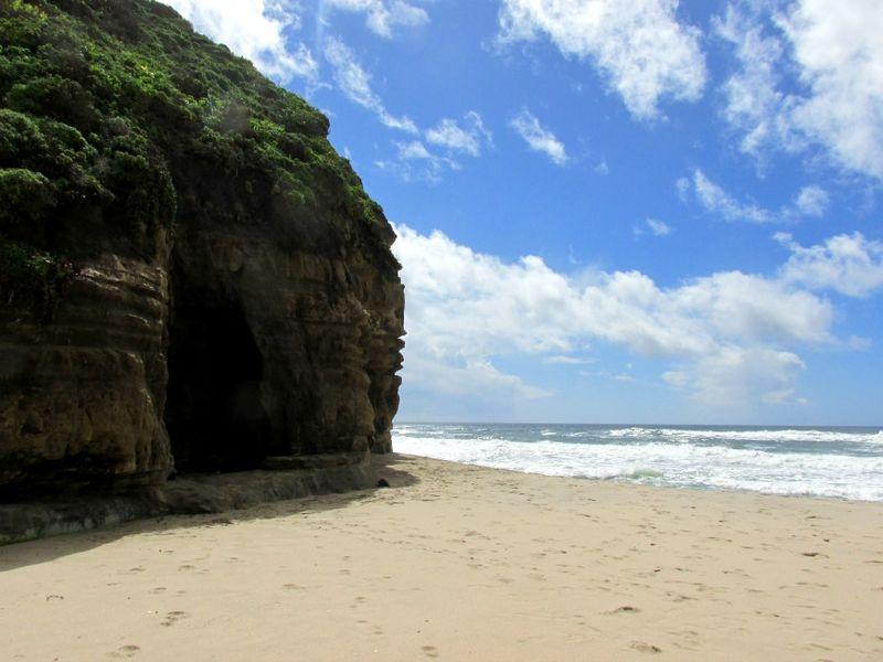 Pomponio state beach cave 2