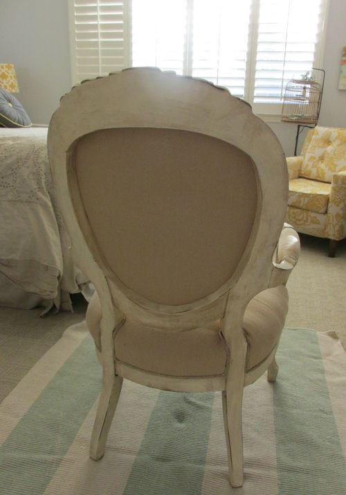 Burlap chair back