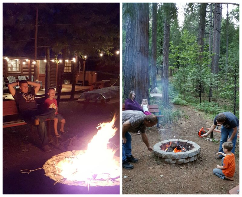 Cabin may 2015 fire ring  Collage