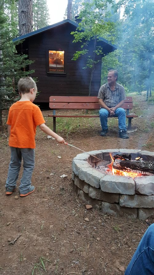 Cabin nick fire and bunkie