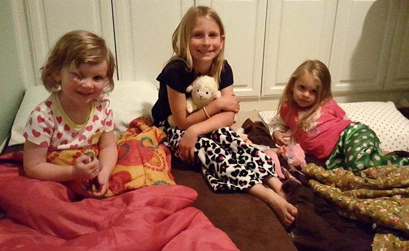 Kent and Becca's visit sleepover