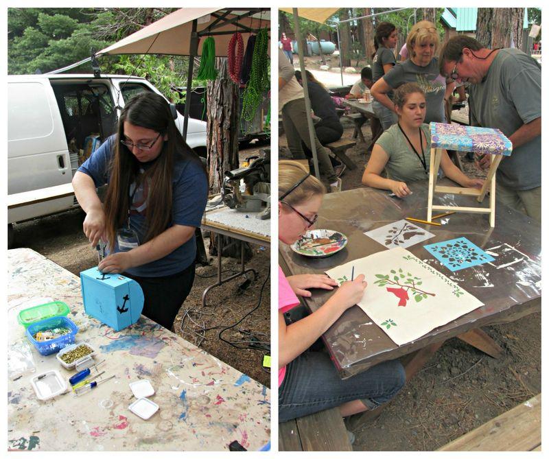 Yw camp crafts collage