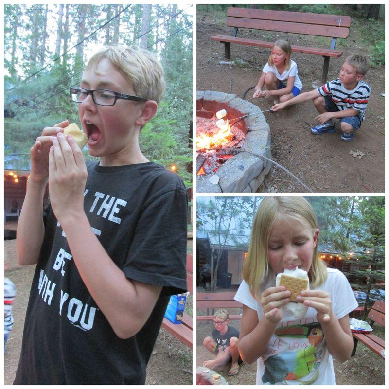 Cabin marshmallows  Collage