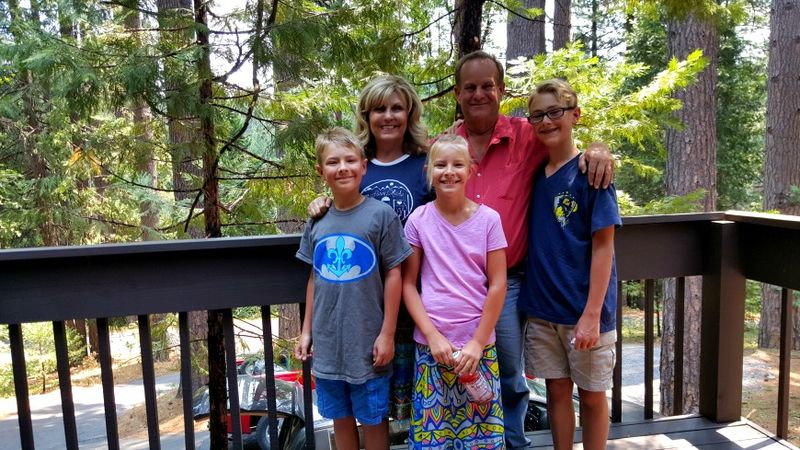 Cabin 2015 us with kids on deck