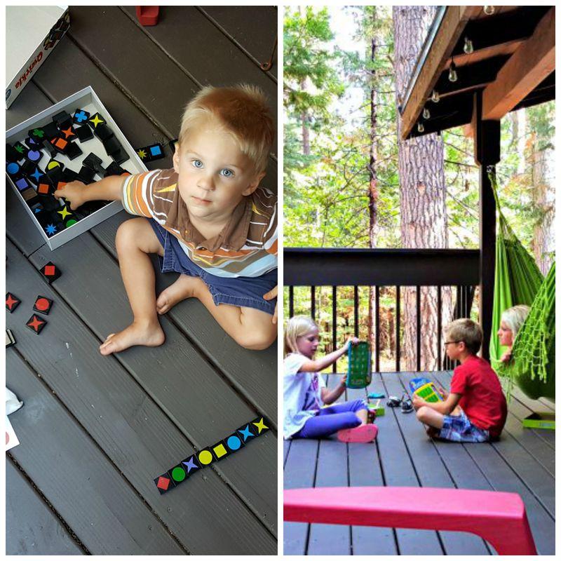 Cabin heidi games on deck Collage