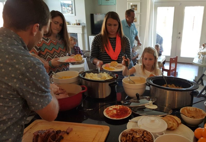 Thanksgiving 2015 food buffet