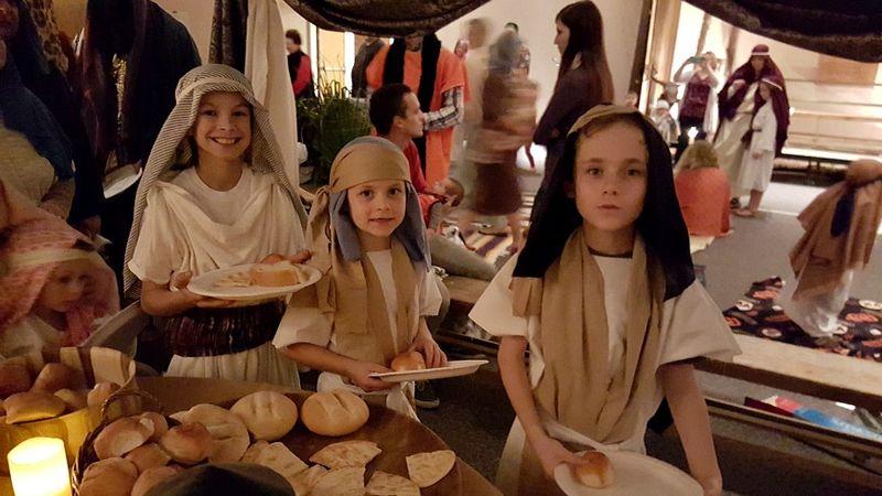 A night in Bethlehem- boys in tent