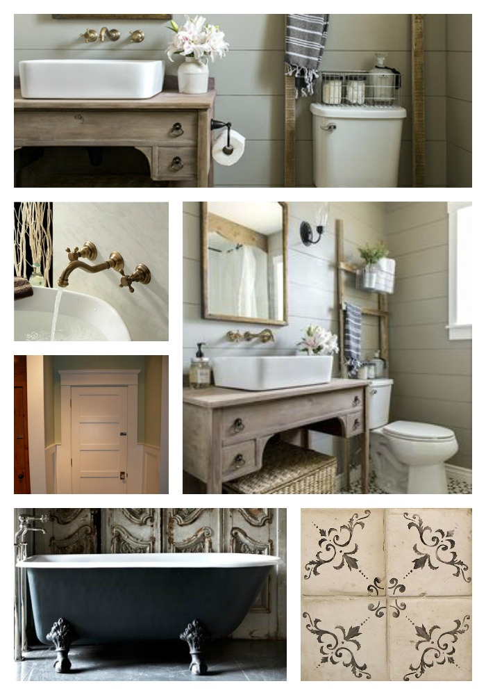 Poppy hill bathroom inspiration board Collage