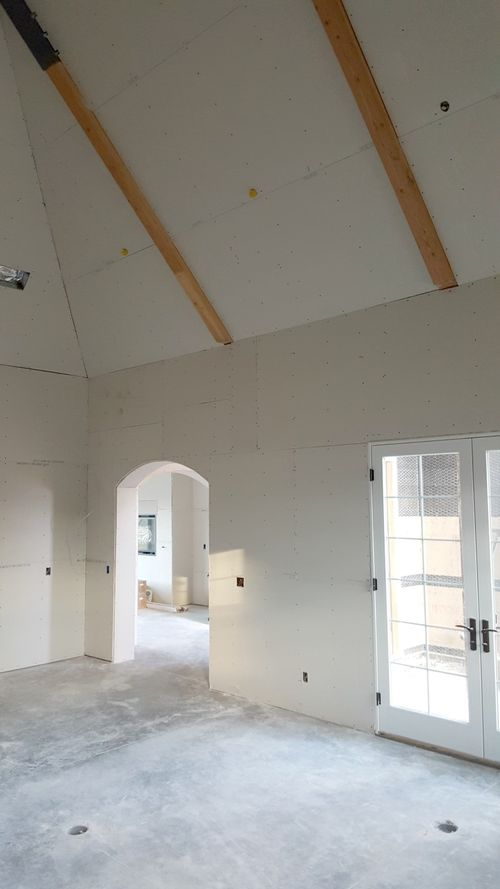 Poppy hill front room dry wall