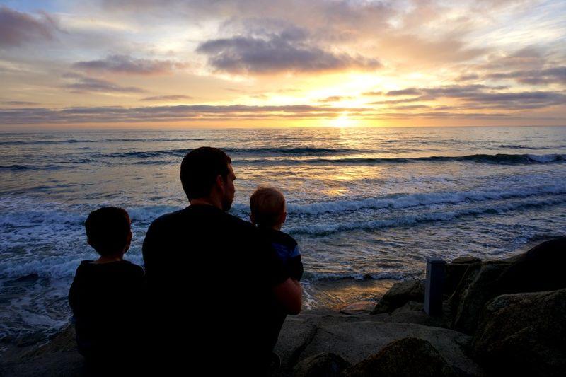 Oceanside212 kent and kids sunset