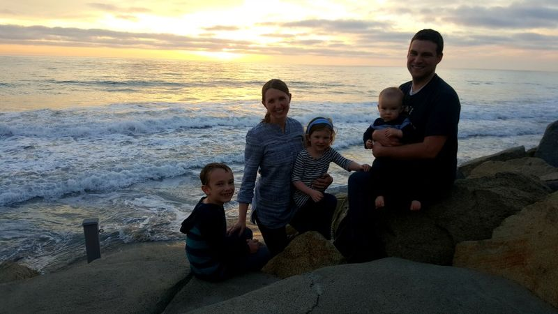 Oceanside sunset family pic 1