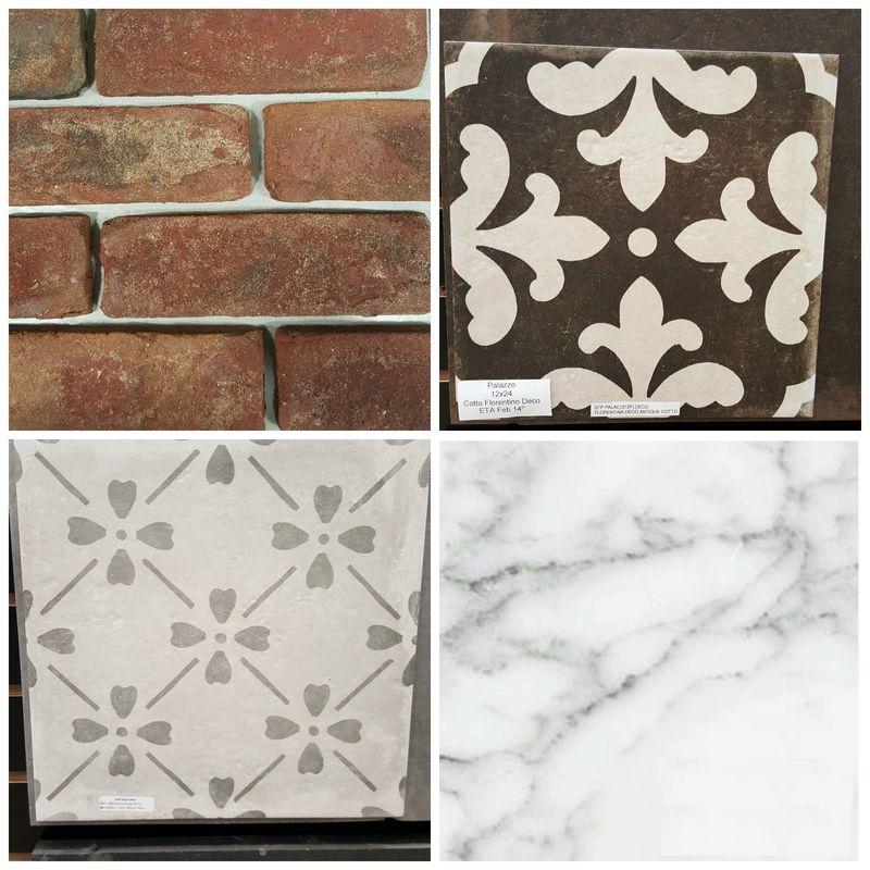 Poppy hill floor tile Collage