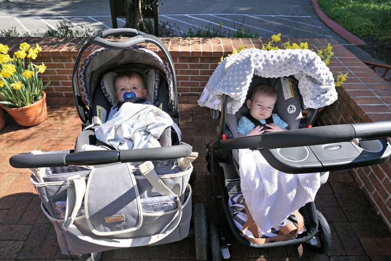 DSC00270 boys in strollers