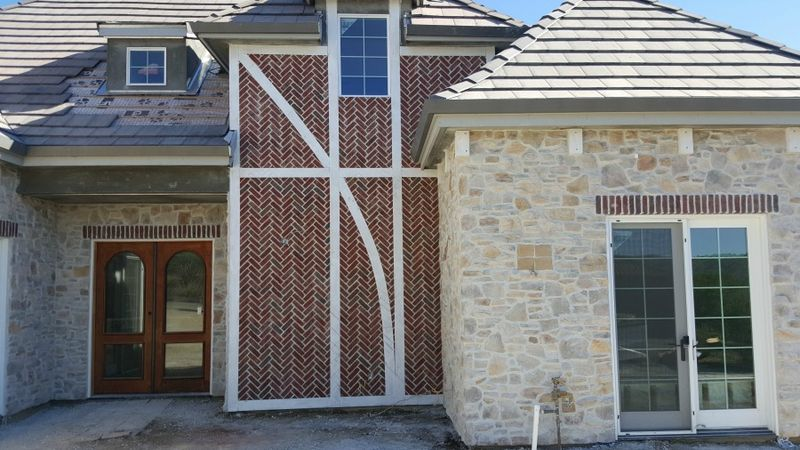 Poppy hill house front stone finished