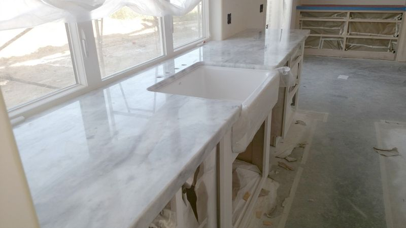 Poppy hill quartzite kitchen sink