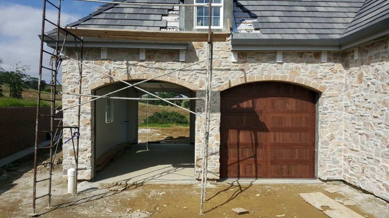 Poppy hill garage doors one opened