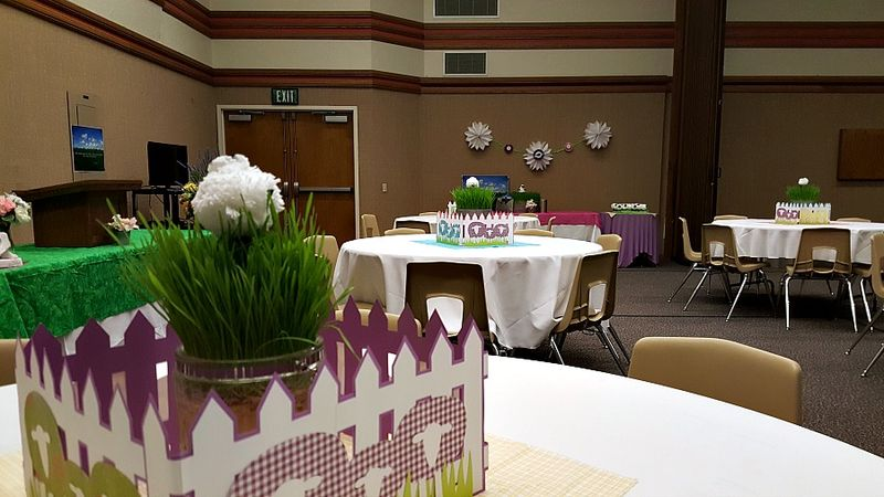 Relief society feed my lambs centerpiece