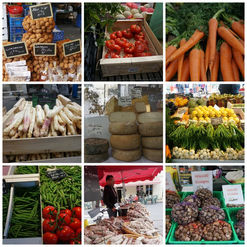 Academy france market place veg Collage